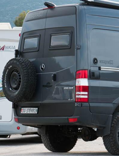 Mercedes Sprinter 4×4 Reserveradträger