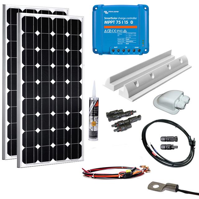 solaranlage wohnmobil 200 watt set top preis bei camperx kaufen. Black Bedroom Furniture Sets. Home Design Ideas