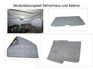 Komplette Verdunkelung Fahrerhaus und Kabine T6/ T5