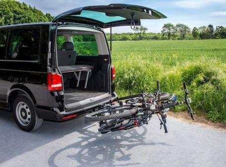 Fahrradträger Eufab Premium II Plus VW California Heckklappe kompatibel T6.1